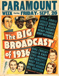 """Movie Posters:Musical, The Big Broadcast of 1936 (Paramount, 1935). Jumbo Window Card (22"""" X 28""""). Musical.. ..."""