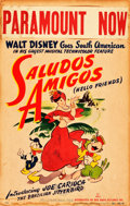 "Movie Posters:Animation, Saludos Amigos (RKO, 1942). Window Card (14"" X 22"").. ..."