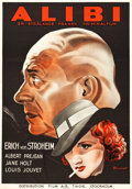"Movie Posters:Mystery, The Alibi (Film A-B Thor, 1937). Swedish One Sheet (27.5"" X39.5"").. ..."