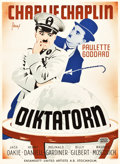 """Movie Posters:Comedy, The Great Dictator (United Artists, 1945). First Post-War Release Swedish One Sheet (27.5"""" X 39.5"""").. ..."""