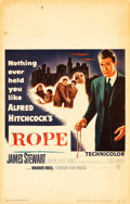 "Movie Posters:Hitchcock, Rope (Warner Brothers, 1948). Window Card (14"" X 22"").. ..."