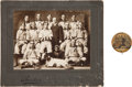 Baseball Collectibles:Photos, 1902 Wilmington Peaches (AA) Cabinet Photo and Pin With JesseFrysinger. ...