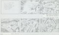 "Original Comic Art:Miscellaneous, Jack Kirby Fantastic Four ""Blastaar the Living Bomb Burst""Storyboard #70 Original Animation Art (DePatie-Freleng,..."