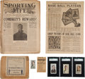 Baseball Collectibles:Others, 1910's Sporting Life M116 Cards, Newspaper Ad, Publication, Envelope and Mailer (8 Pieces). ...