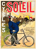 """Movie Posters:Miscellaneous, Cycles Soleil French Advertising Poster (Litho L'Editorial, Louvain, c. 1905). Poster (35"""" X 48"""").. ..."""