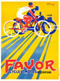 """Movie Posters:Miscellaneous, Favor Cycles & Motos French Advertising Poster (Gaillard, Paris, 1927). Poster (45.5"""" X 61.5"""").. ..."""