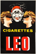 "Movie Posters:Miscellaneous, Leo Cigarettes French Advertising Poster (1920s). Poster (30"" X 45"").. ..."