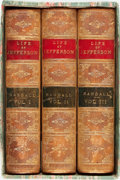 Books:Biography & Memoir, Henry S. Randall. The Life of Thomas Jefferson, Vols. I-III.New York: Derby & Jackson, 1858. Early edition. ... (Total: 3Items)