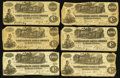 Confederate Notes:1862 Issues, T39 $100 1862 Fourteen Examples.. ... (Total: 14 notes)