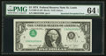 Error Notes:Inverted Third Printings, Fr. 1908-H $1 1974 Federal Reserve Note. PMG Choice Uncirculated 64EPQ.. ...