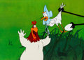 Animation Art:Production Cel, Daffy Duck Easter Special Foghorn Leghorn and Miss PrissyProduction Cel Setup (Warner Brothers, 1980).... (Total: 3 Items)
