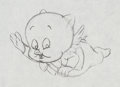 Animation Art:Production Drawing, Porky Pig Production Drawing (Warner Brothers, 1960s)....