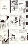 "Original Comic Art:Panel Pages, Daniel Clowes Eightball #3 ""The Stroll"" Page 1 Original Art(Fantagraphics, 1990)...."