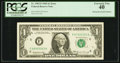 Error Notes:Mismatched Serial Numbers, Fr. 1903-F $1 1969 Federal Reserve Note. PCGS Extremely Fine 40.. ...
