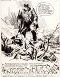 Original Comic Art:Splash Pages, Ernie Chan and Noly Panaligan Jonah Hex #6 Splash Page 1Original Art (DC, 1977)....