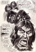Original Comic Art:Splash Pages, John Buscema and Tom Palmer Marvel Preview #22 Merlin Page49 Original Art (Marvel, 1980)....