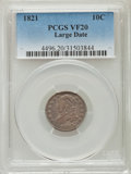 Bust Dimes: , 1821 10C Large Date VF20 PCGS. PCGS Population (26/262). NGCCensus: (3/161). Mintage: 1,186,512. Numismedia Wsl. Price for...