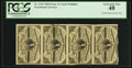 Fractional Currency:Third Issue, Fr. 1226 3¢ Third Issue Uncut Vertical Strip of Four PCGS Extremely Fine 40.. ...
