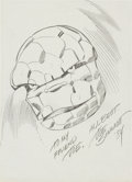 Original Comic Art:Sketches, Joe Sinnott - The Thing Convention Commission Sketch Original Art (1984)....