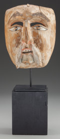 American Indian Art:Wood Sculpture, Christian or Old Man (Viejo) Mask, Mexican. 20th c.. ... (Total: 2Items)