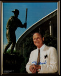 Baseball Collectibles:Photos, Stan Musial Signed Oversized Photograph....