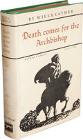 Books:Literature 1900-up, Willa Cather. Death Comes for the Archbishop. New York:Alfred A. Knopf, 1927....