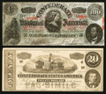 Confederate Notes:1864 Issues, T65 and T67 Facsimile Ad Notes.. ... (Total: 2 notes)
