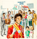 Original Comic Art:Covers, John Severin Cracked #207 Cover Painting Michael JacksonOriginal Art (Major Publications, 1984)....
