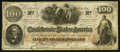 Confederate Notes:1862 Issues, T41 $100 1862 PF-26.. ...
