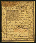 Colonial Notes:Delaware, Delaware January 1, 1776 10s About New.. ...
