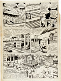 "Original Comic Art:Panel Pages, Shuster Studio - Unpublished ""Riddle of the Iron Zoo"" Page 2 PerryWhite, Clark Kent, and Lois Lane Original Art (DC, c. 1940s..."