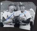 Baseball Collectibles:Photos, Stan Musial and Red Schoendienst Multi Signed Oversized PhotographsLot of 10....