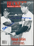 Baseball Collectibles:Publications, Stan Musial and Ted Williams Multi Signed Beckett Magazine....