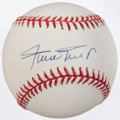 Baseball Collectibles:Balls, Willie Mays Single Signed Baseball....