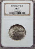 Ireland, Ireland: Republic Florin 1942 MS65 NGC,...