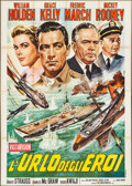 "Movie Posters:War, The Bridges at Toko-Ri (Fida Cinematografica, R-1960s). Italian 4 -Foglio (55"" X 77.5""). War.. ..."