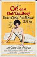 "Movie Posters:Drama, Cat on a Hot Tin Roof (MGM, 1958). One Sheet (27"" X 41""). Drama....."