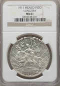 Mexico, Mexico: Republic Peso 1911 MS61 NGC,...