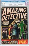 Golden Age (1938-1955):Horror, Amazing Detective Cases #13 (Atlas, 1952) CGC GD/VG 3.0 Off-whitepages....