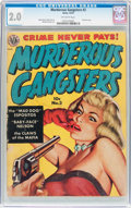 Golden Age (1938-1955):Crime, Murderous Gangsters #2 (Avon, 1951) CGC GD 2.0 Off-white pages....