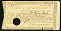 Colonial Notes:Connecticut, Connecticut Treasury Certificate £23.1p June 1, 1782 Very Good.....