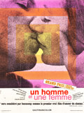 """Movie Posters:Foreign, A Man and a Woman (Les Artistes Associes, 1966). French Grande (47"""" X 63"""").. ..."""