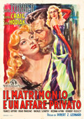 """Movie Posters:Comedy, Marriage is a Private Affair (MGM, Late 1940s). Italian 2 - Foglio(39"""" X 55"""").. ..."""