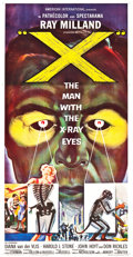 "Movie Posters:Science Fiction, X - The Man with the X-Ray Eyes (American International, 1963).Three Sheet (41"" X 79"").. ..."