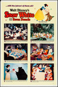 "Movie Posters:Animation, Snow White and the Seven Dwarfs (Buena Vista, R-1967). One Sheet (27"" X 41"") Style B. Animation.. ..."