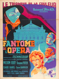 "Phantom of the Opera (Universal, 1947). First Post-War Release Printer's Proof French Grande (47"" X 63"")"