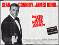"Movie Posters:James Bond, Never Say Never Again (Columbia-EMI-Warner, 1983). British Quad (30"" X 40""). James Bond.. ..."