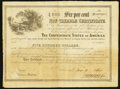 Confederate Notes:Group Lots, Ball 364 Cr. 153 $500 1860 Six Per Cent Non Taxable CertificateVery Fine. ...