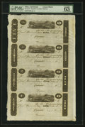 Obsoletes By State:Ohio, Cincinnati, (OH)- (John H. Piatt & Company) $5-$3-$2-$1 Dec. 1,1825 Uncut Sheet. ...