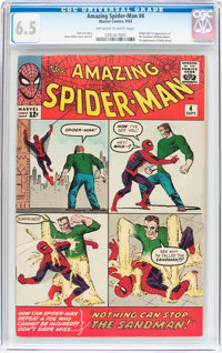 The Amazing Spider-Man #4 (Marvel, 1963) CGC FN+ 6.5 Off-white to white pages